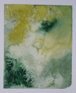 watercolour with salt sprinkled onto it